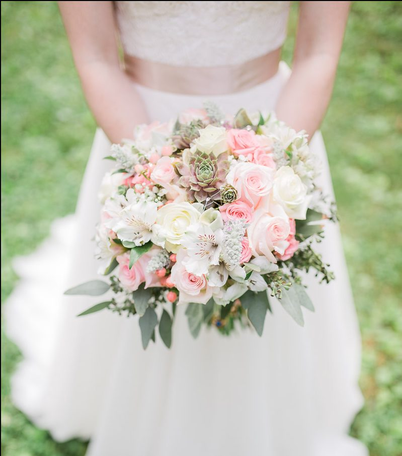 Bridal bouquet with succulents