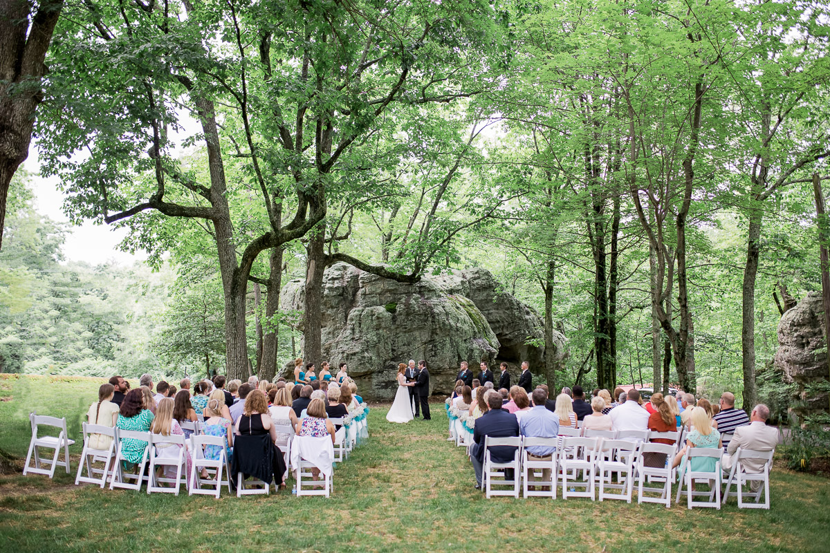 Outdoor wedding ceremony by Megan Lee Photography