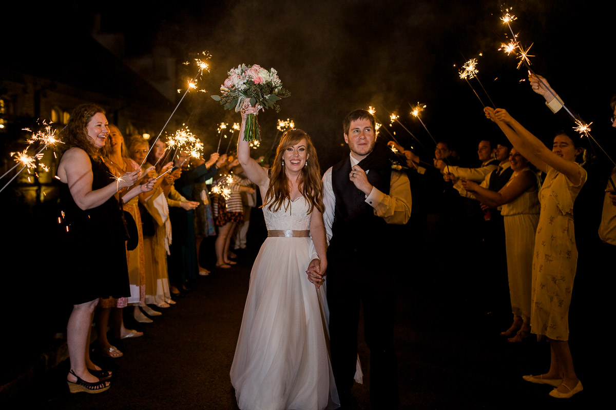 Sparkler exit by Wyoming based photographer Megan Lee Photography