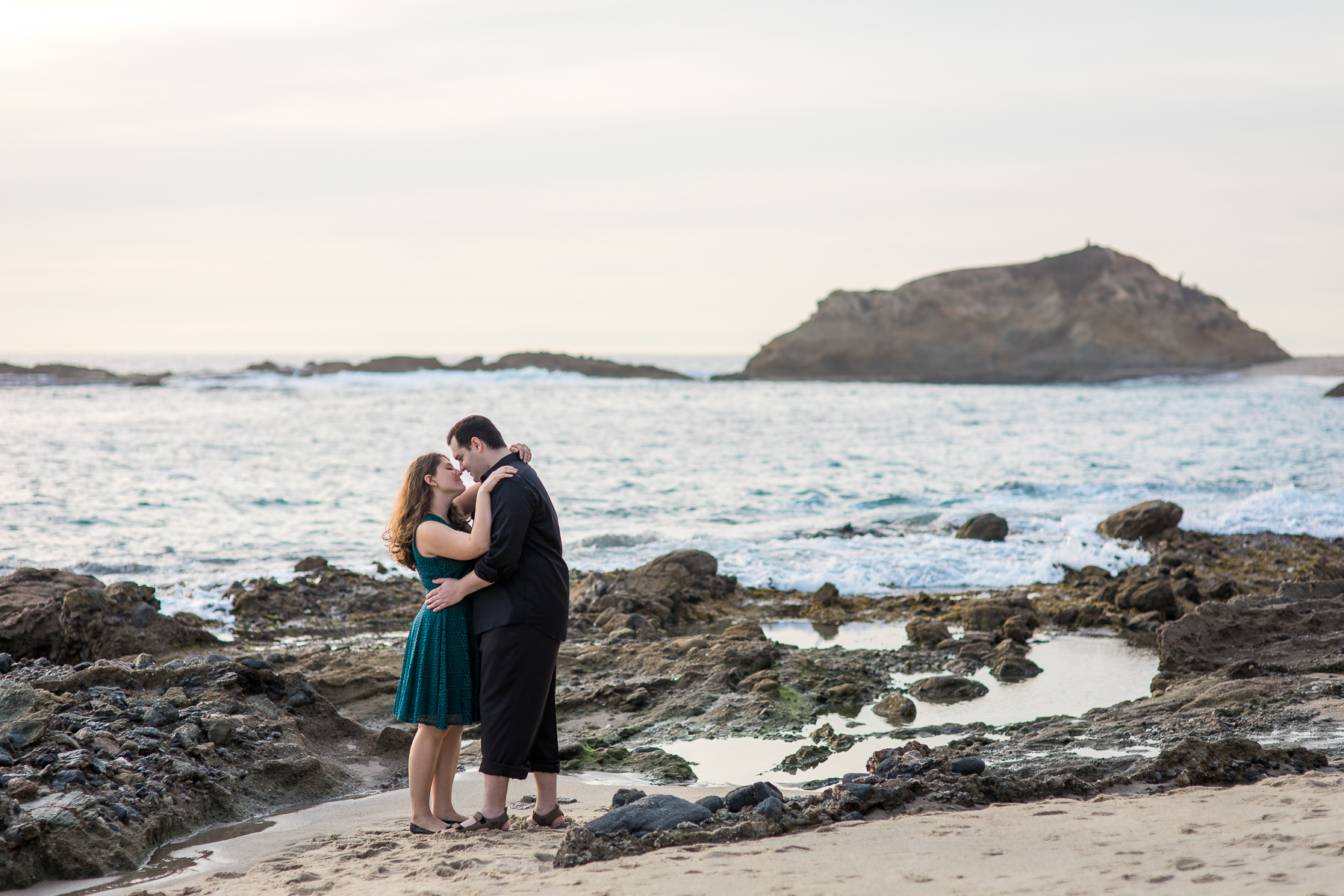 Beach engagement photography by Wyoming based photographer, Megan Lee Photo