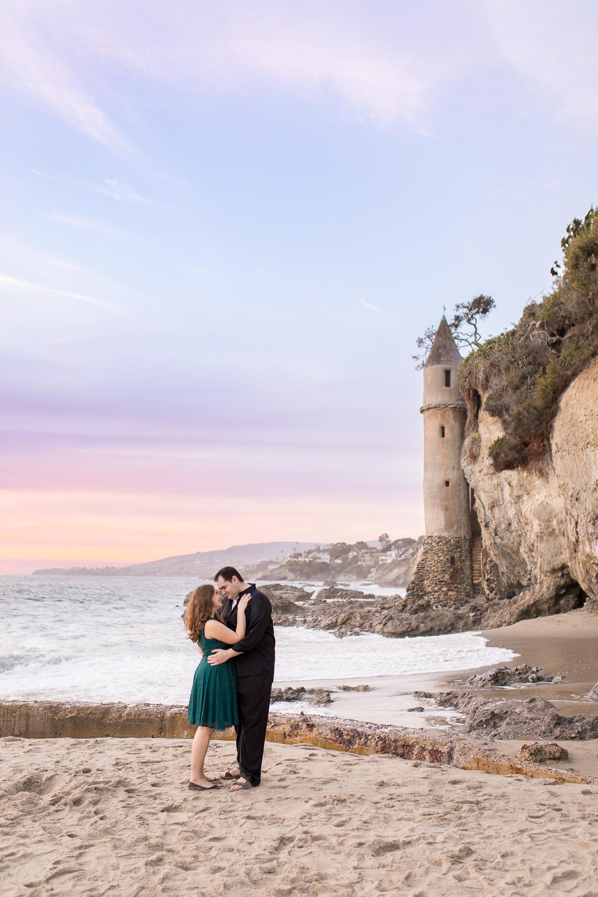 Beach Destination engagement session by Laramie based photographer, Megan Lee Photography