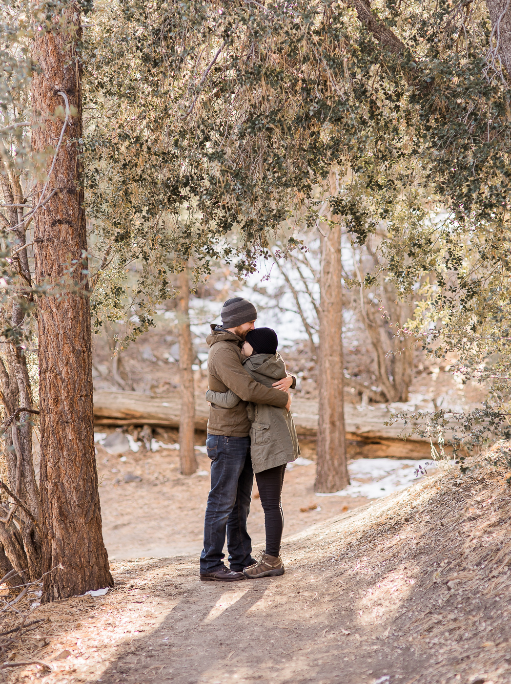 Engagements at Big Bear by Wyoming based photographer