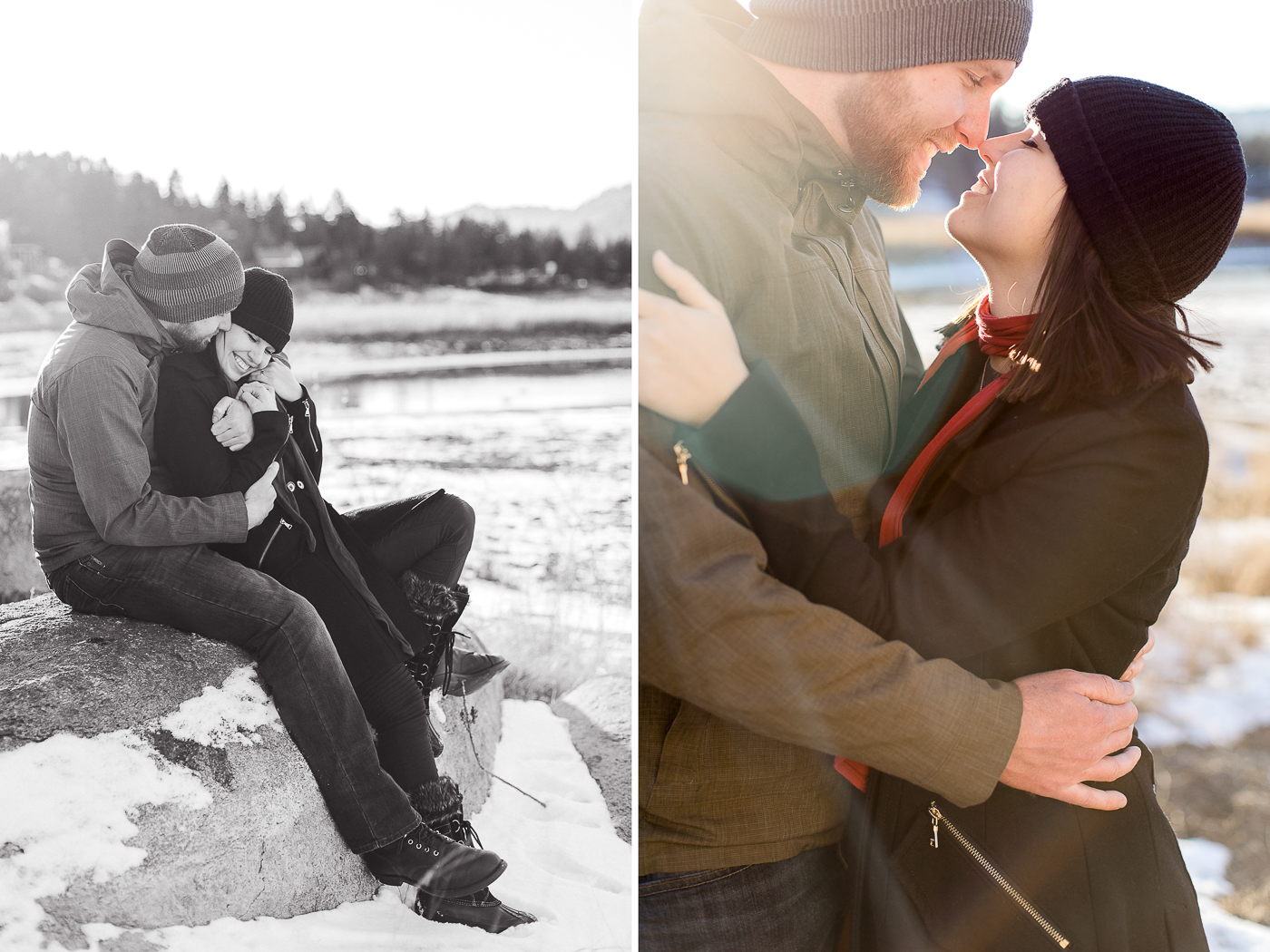 Big Bear, CA Engagements by Megan Lee Photography