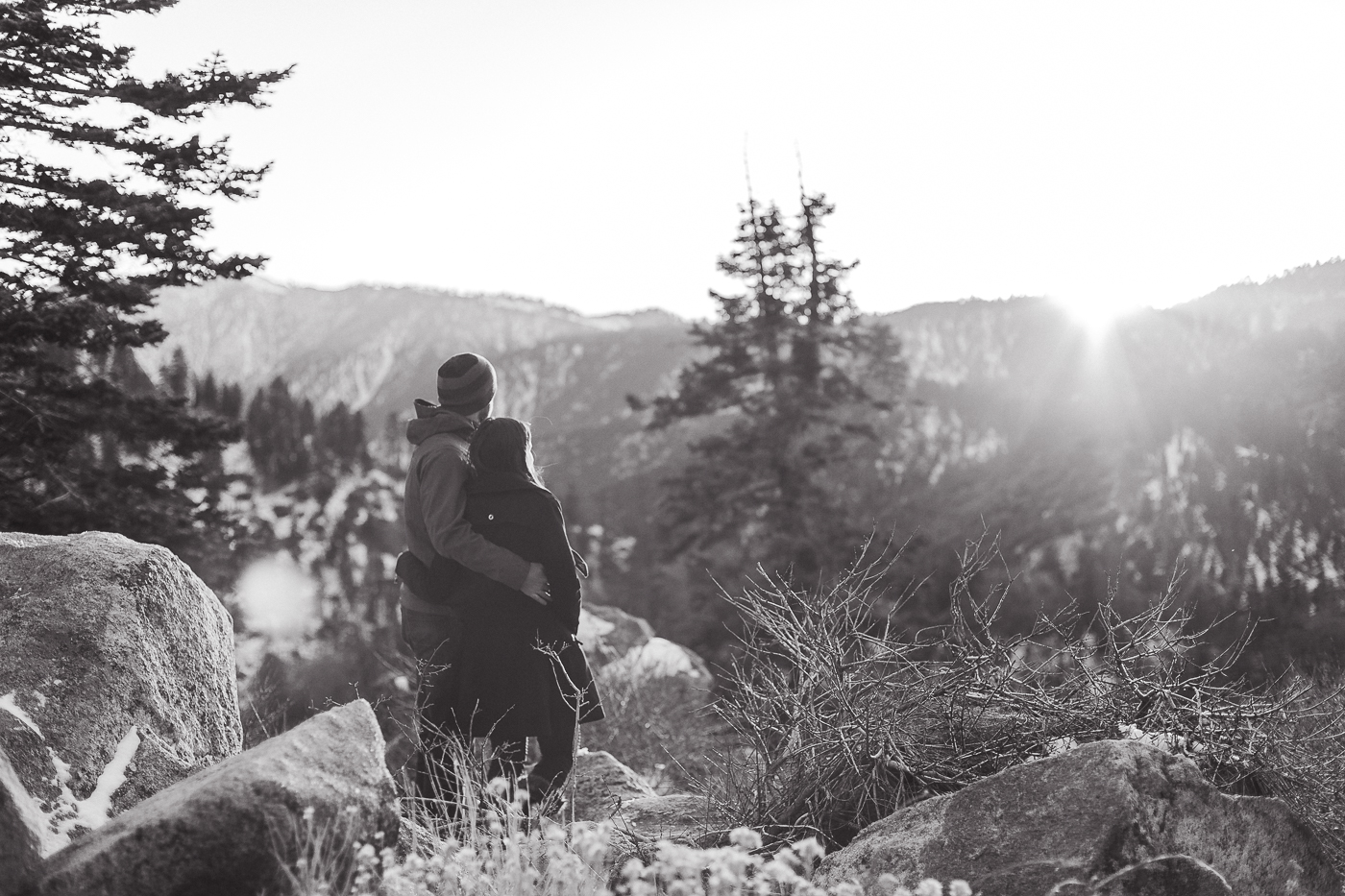Casual Winter Engagements at Big Bear, CA
