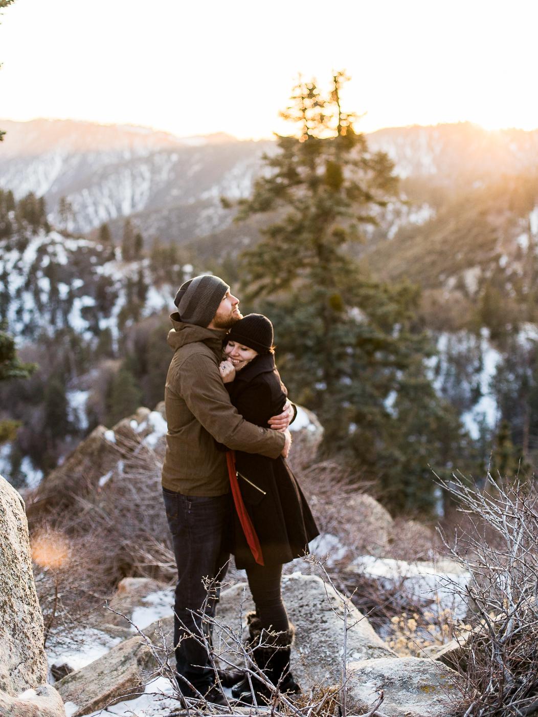 California Big Bear Engagements by Wyoming based photographer, Megan Lee Photography