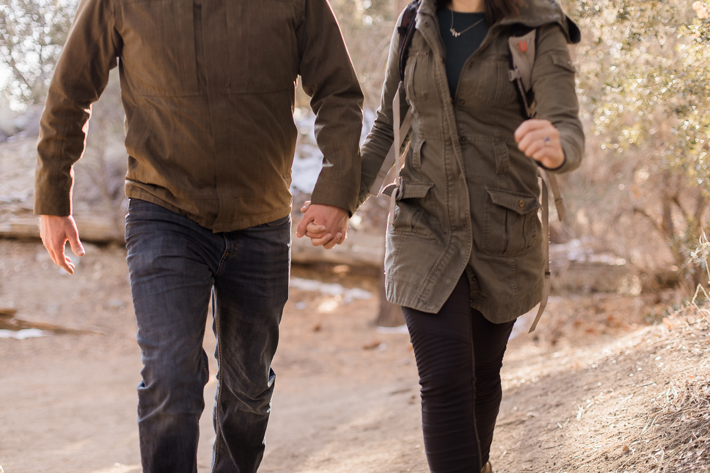 Big Bear engagement session by Megan Lee Photography