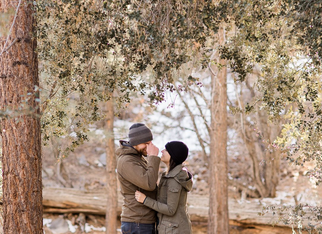 Big Bear California Engagements by Megan Lee Photography