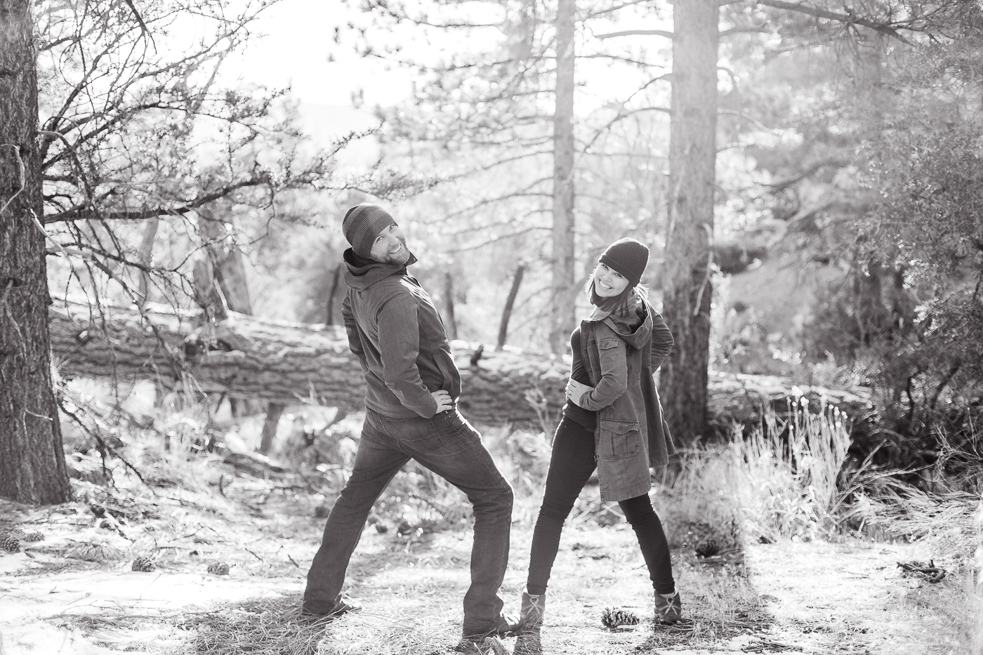 Casual California engagements photos at Big Bear