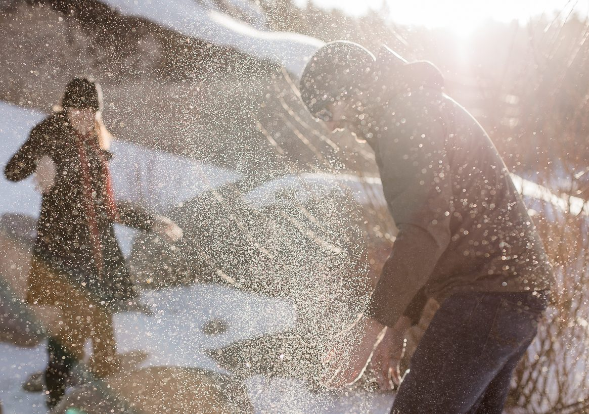 Winter engagement photo session by Megan Lee Photography