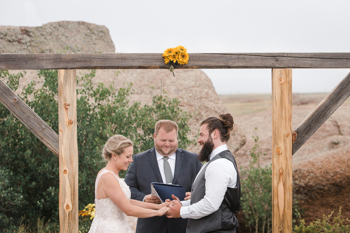 Rustic Summer Wyoming Wedding by Megan Lee Photography