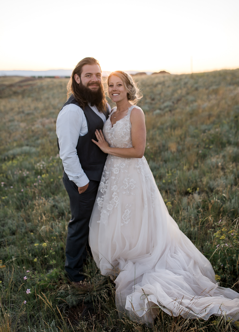 Summer Wyoming Wedding by Megan Lee Photography