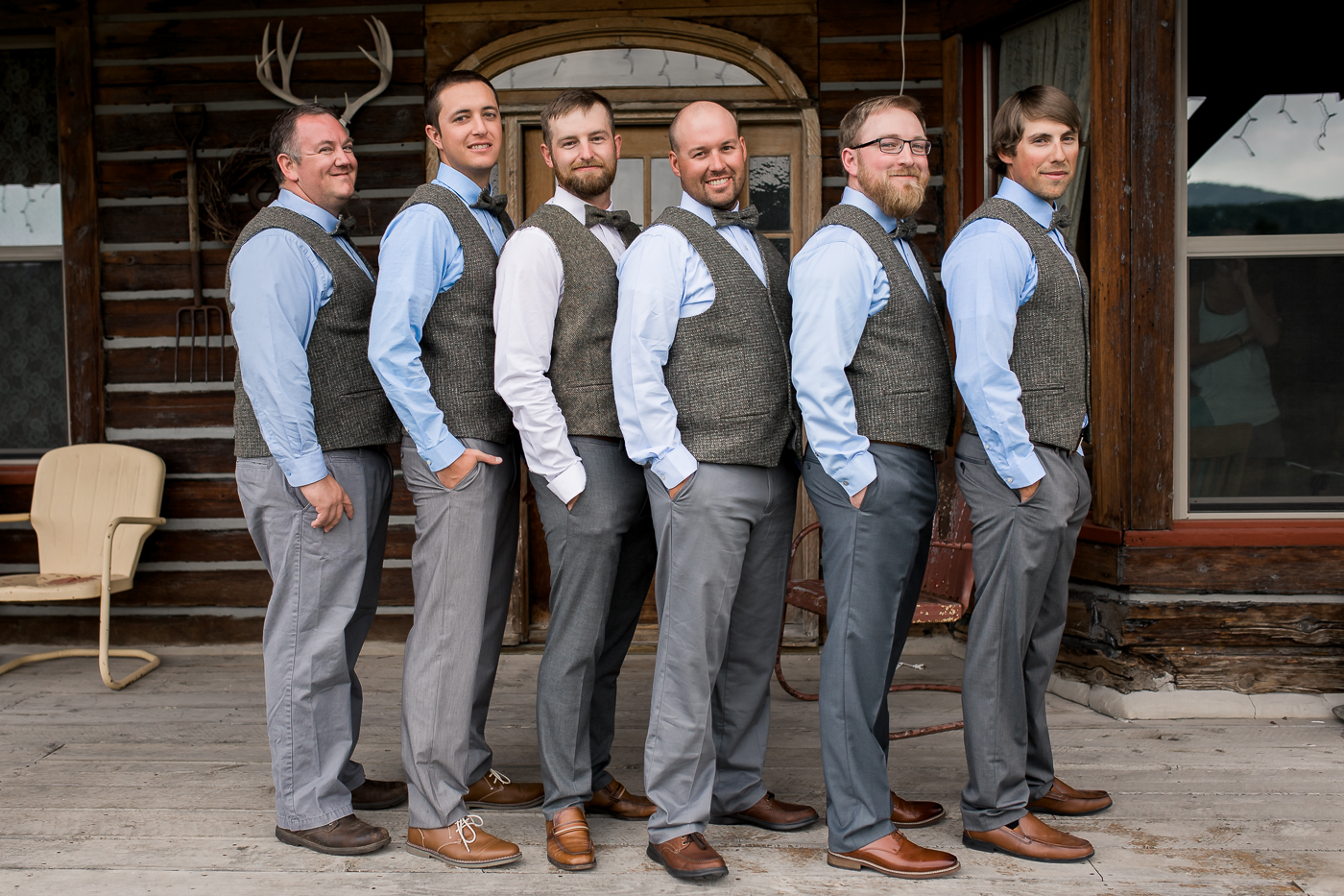 Groomsmen Wedding day portaits