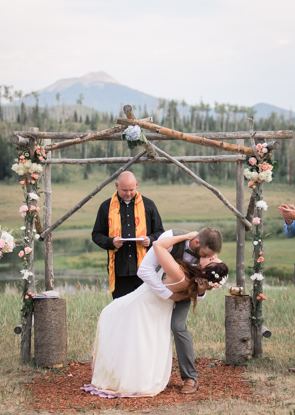 Colorado Mountain Ceremony by Megan Lee Photography