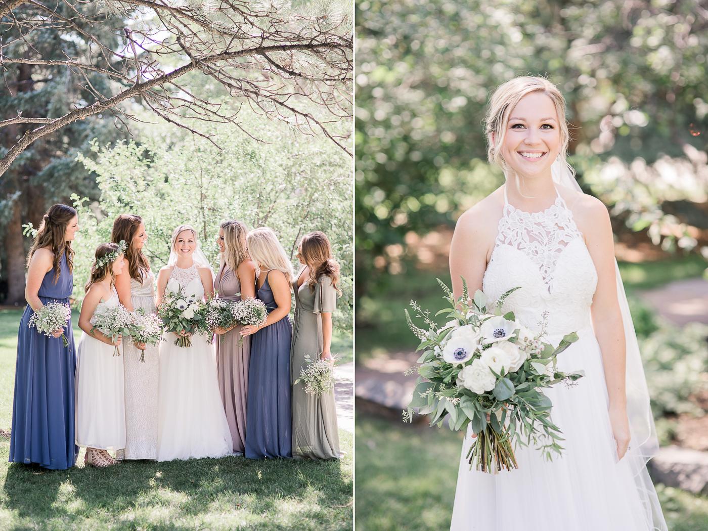 summer bridal party portraits