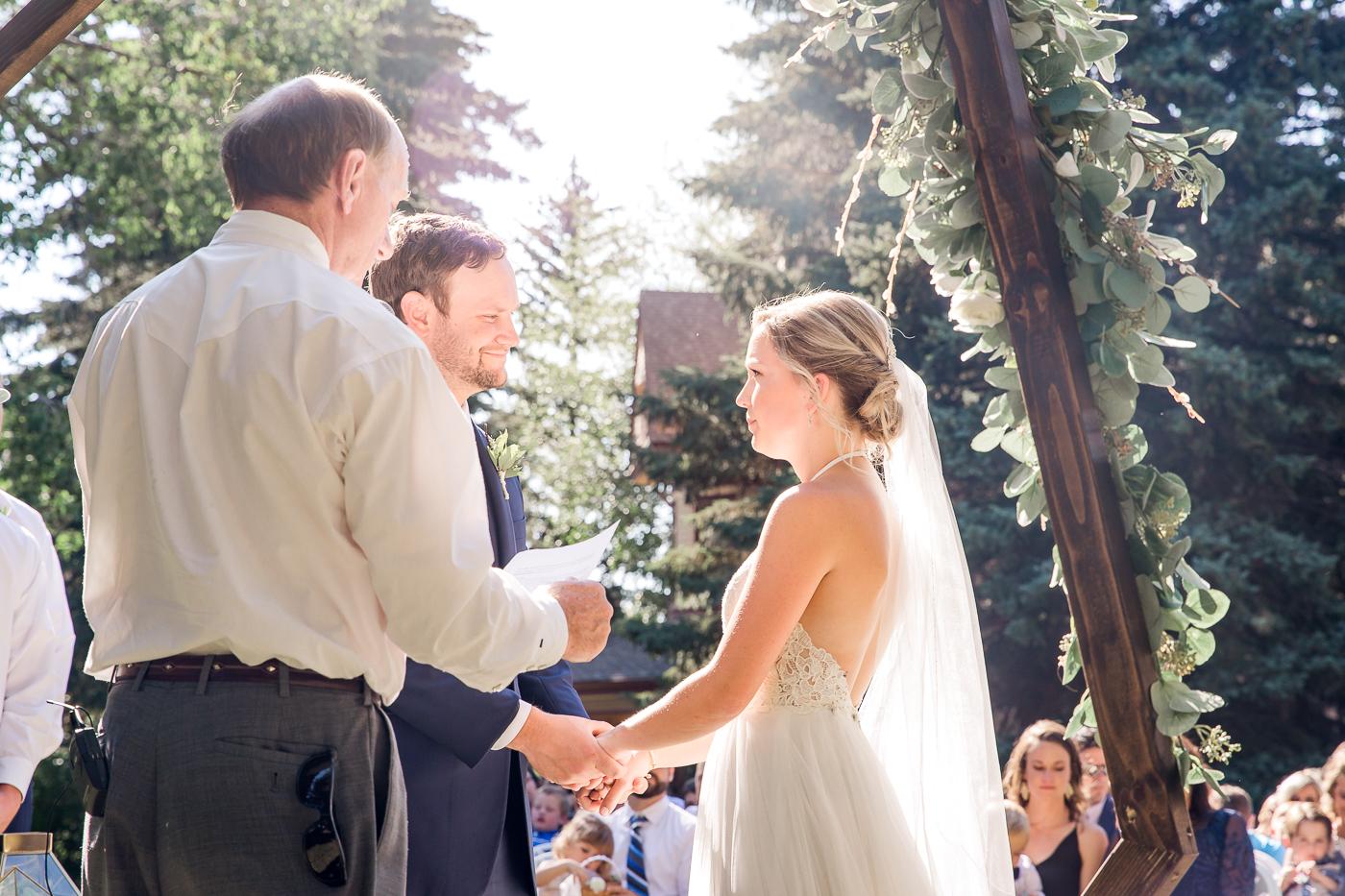 summer garden wedding in Laramie, Wyoming