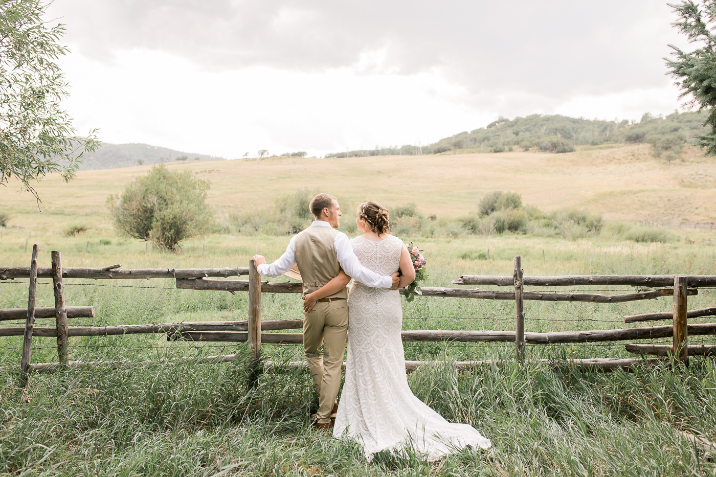 Ranch and farmhouse wedding in Clark, CO by Megan Lee Photo
