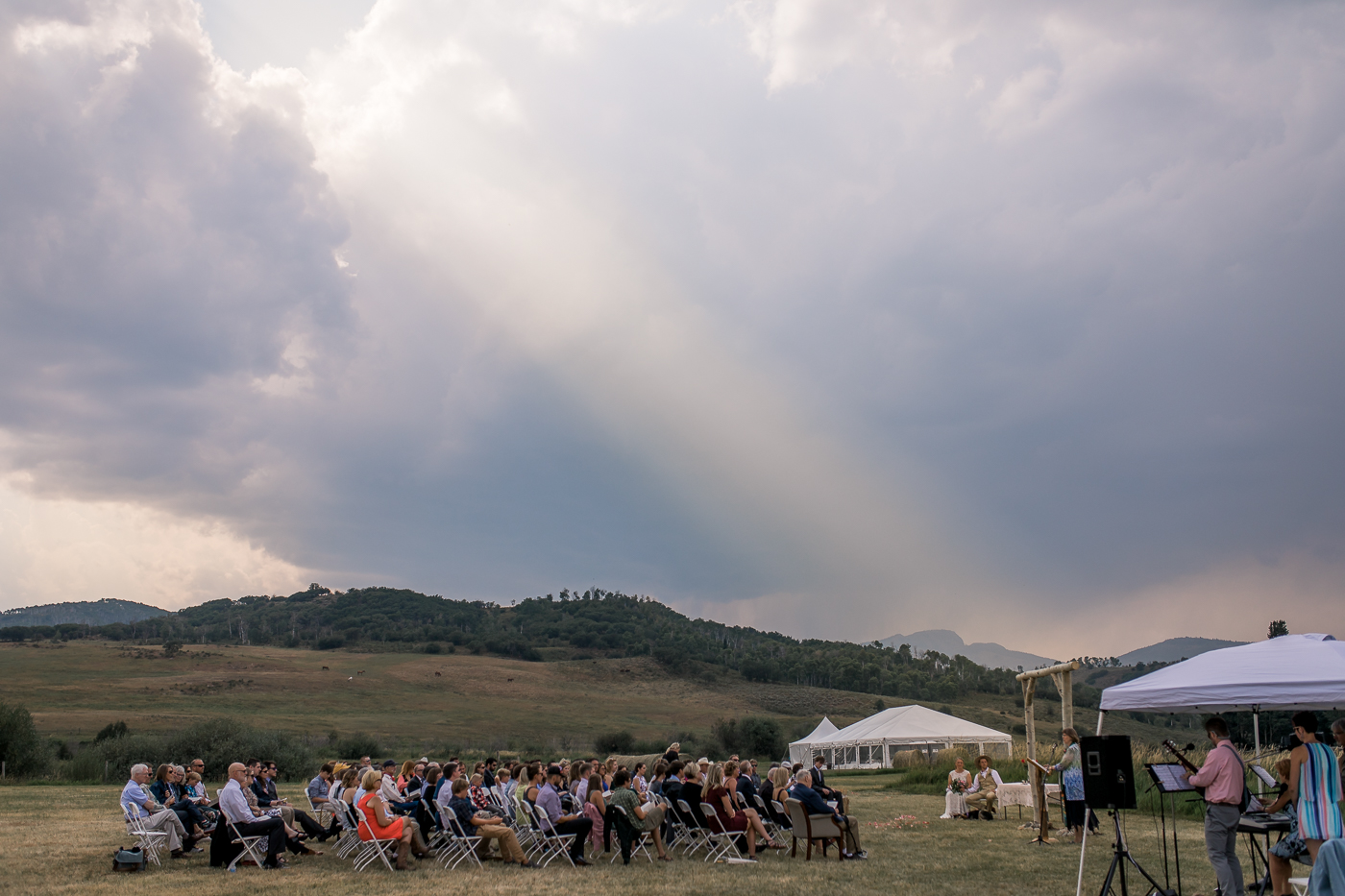 outdoor wedding ceremony in Colorado