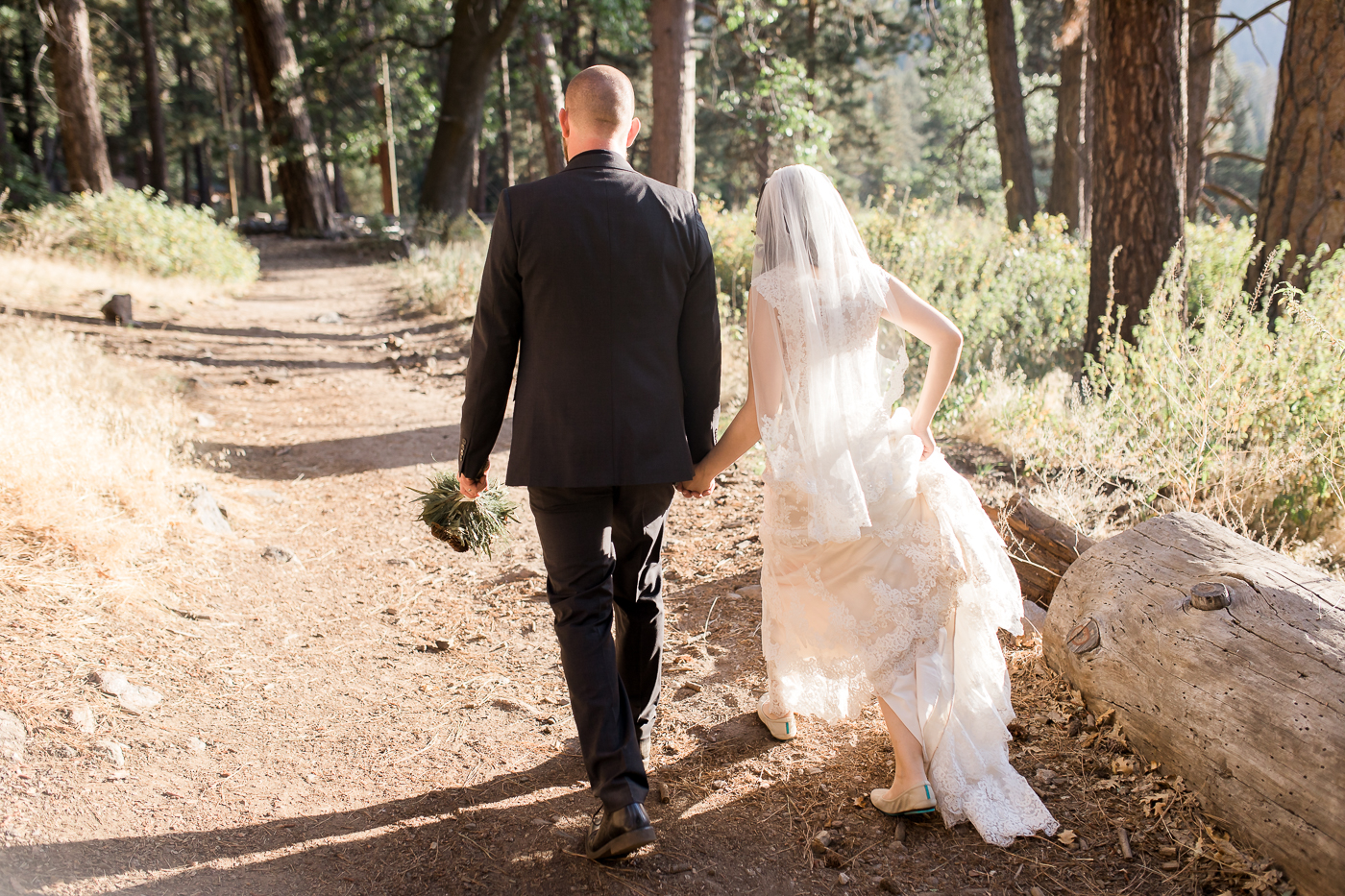 Campground wedding portraits