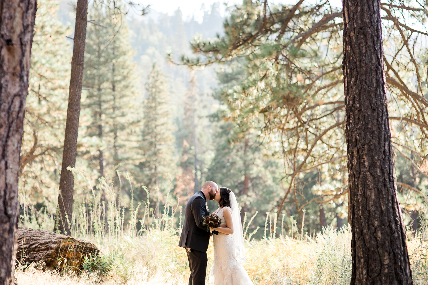 California campground wedding portraits