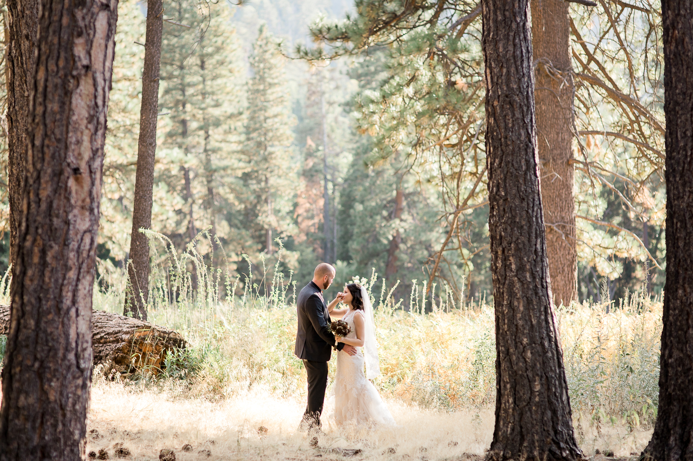 Campground wedding in California
