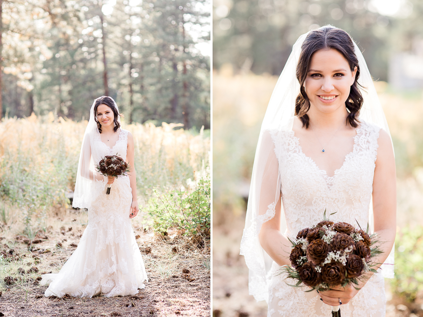 Outdoor bridal portraits in California