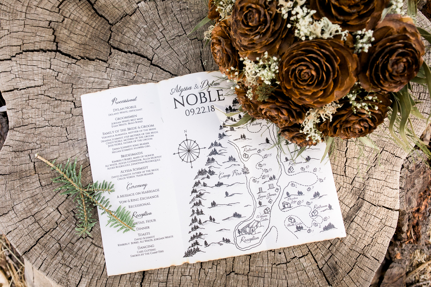 Wedding invitation with map