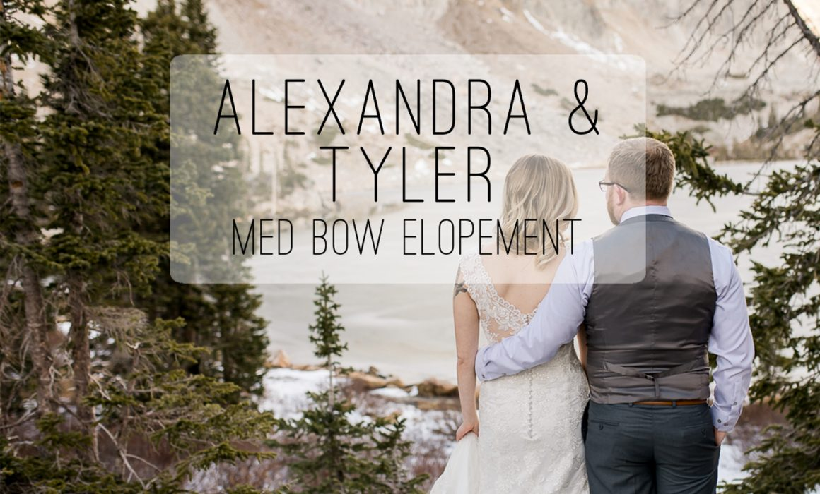 Elopement Photography in the snowies