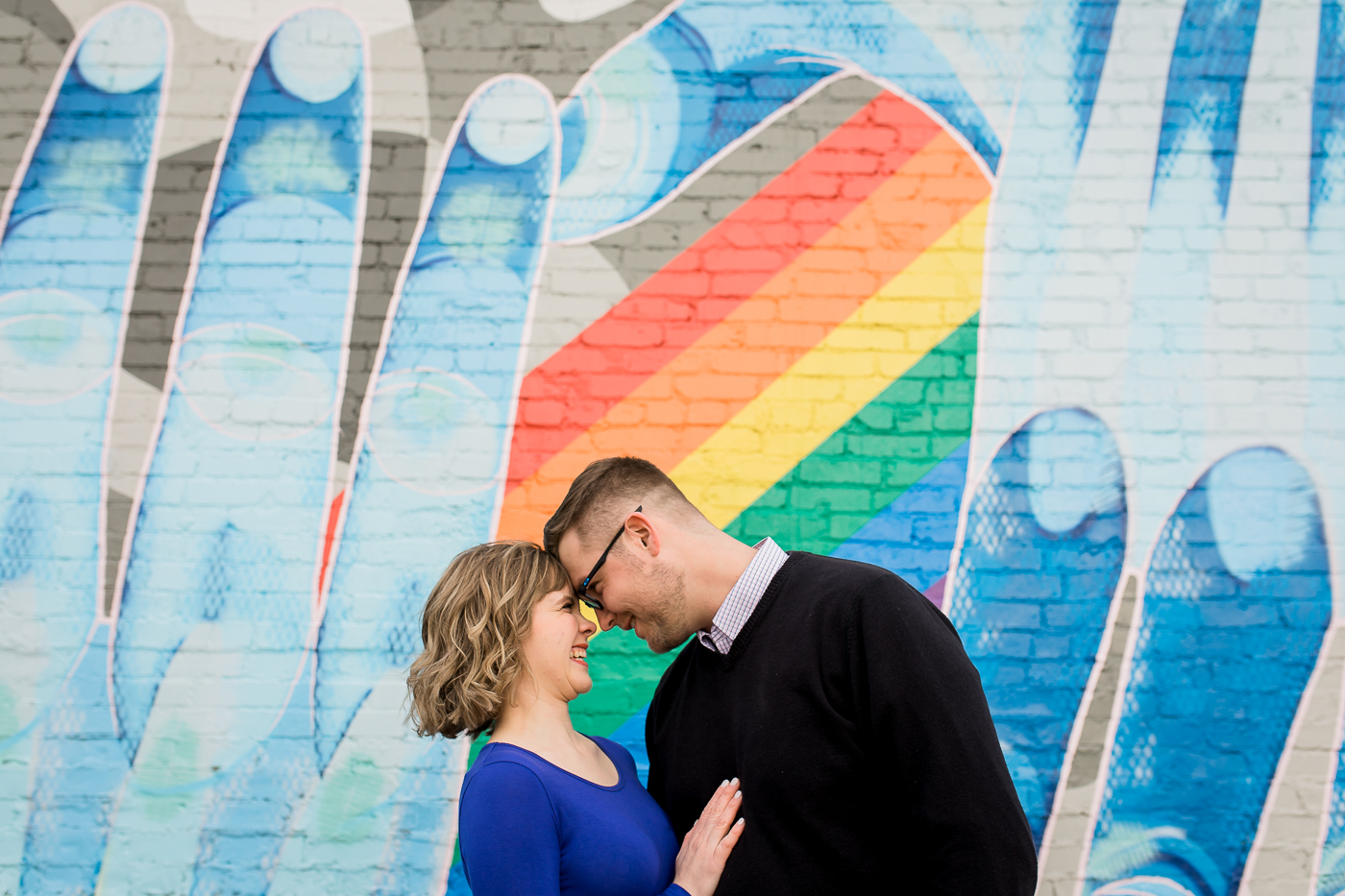 Chelsea & Tom   Downtown Laramie, Wyoming Engagement Session